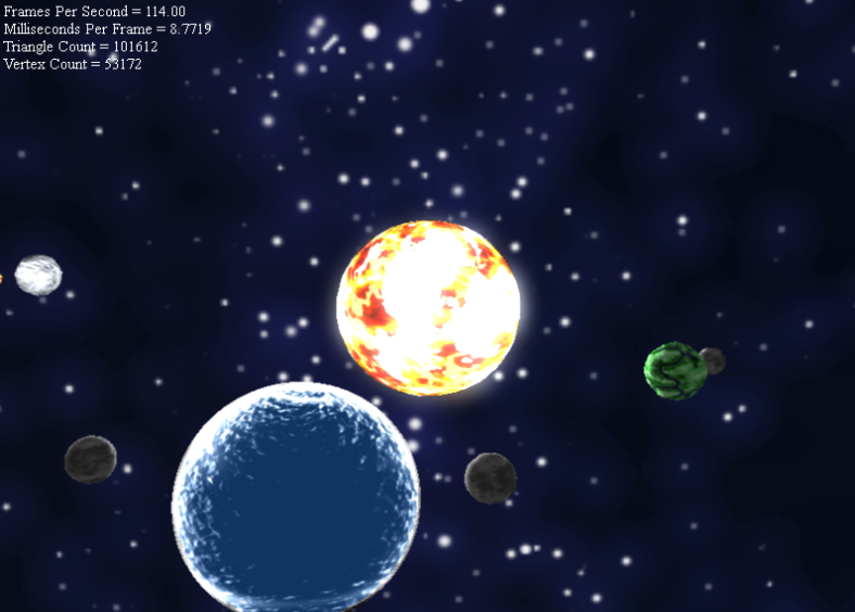 Graphical Solar System in C++